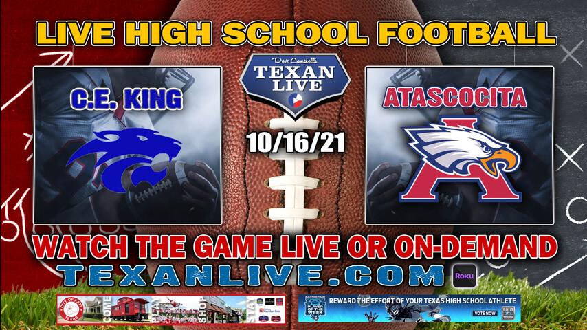 C.E. King vs Atascocita - 6:00PM- 10/16/2021- Football - Live from Turner Stadium