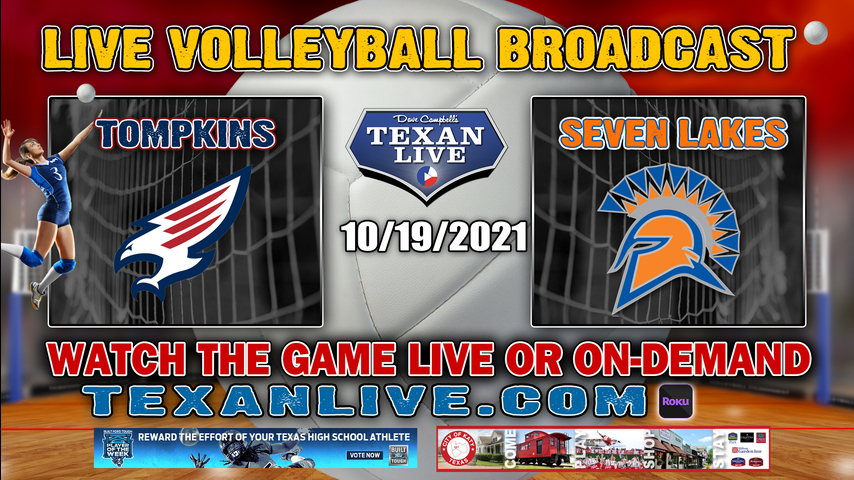 Tompkins vs Seven Lakes - 5:30PM Varsity - 10/19/2021- Volleyball - Live from Seven Lakes HS
