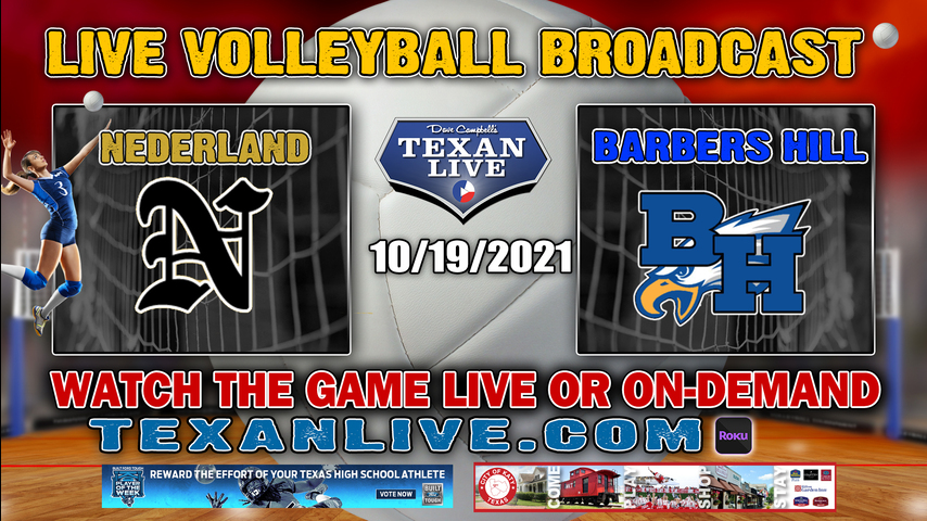 Nederland vs Barbers Hill - 5:30PM Varsity - 10/19/2021- Volleyball - Live from Barbers Hill HS
