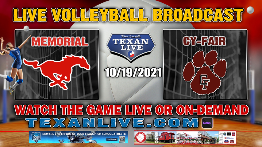 Spring Branch Memorial vs Cy-Fair - 5:30PM Varsity - 10/19/2021- Volleyball - Live from Cy-Fair HS