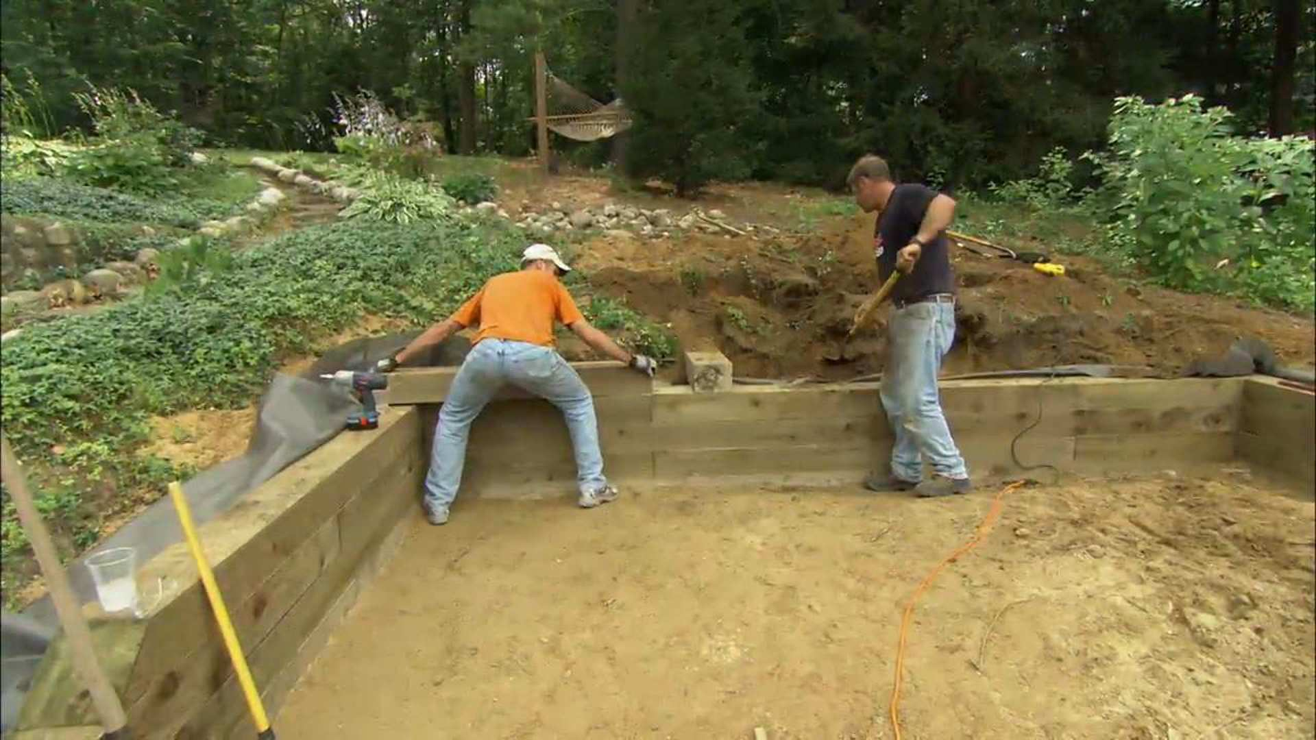 How To Build A Timber Retaining Wall This Old House