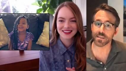 Kids Interview Ryan Reynolds & Emma Stone