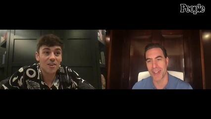 Sacha Baron Cohen Meets Tom Daley